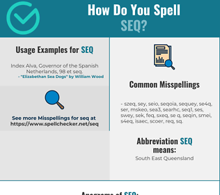 Correct spelling for SEQ