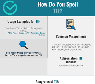 Correct spelling for TIF