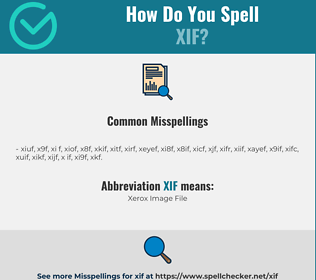 Correct spelling for XIF