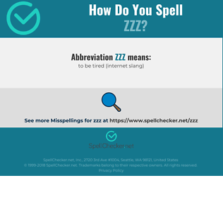 Correct spelling for ZZZ