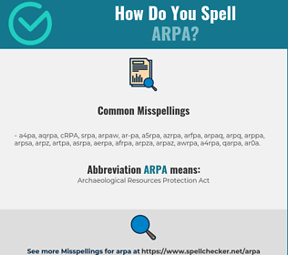 Correct spelling for ARPA