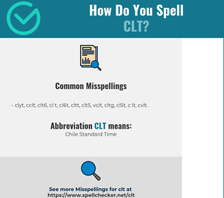 Correct spelling for CLT