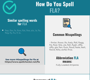Correct spelling for FLA