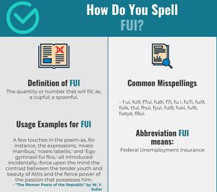 Correct spelling for FUI