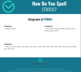 Correct spelling for ITMRA