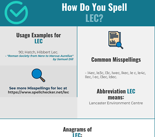 Correct spelling for LEC