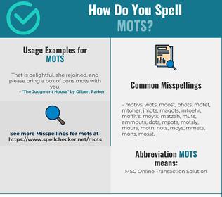 Correct spelling for MOTS