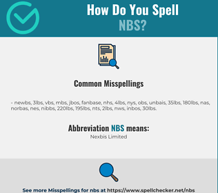 Correct spelling for NBS