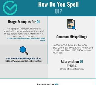 Correct spelling for OI