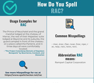 Correct spelling for RAC