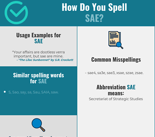 Correct spelling for SAE