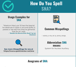 Correct spelling for SNA