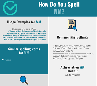 Correct spelling for WM