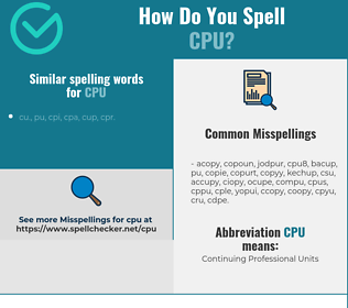 Correct spelling for CPU