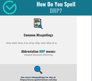 Correct spelling for DRP
