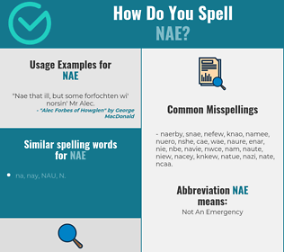 Correct spelling for NAE