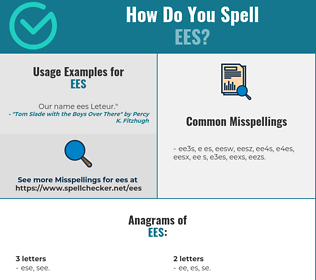 Correct spelling for EES