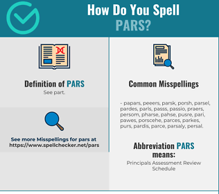 Correct spelling for PARS