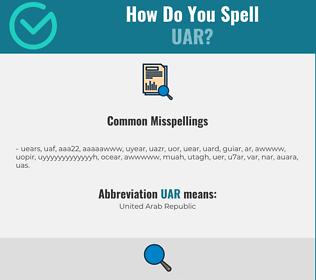 Correct spelling for UAR