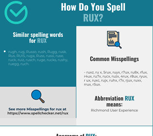 Correct spelling for RUX