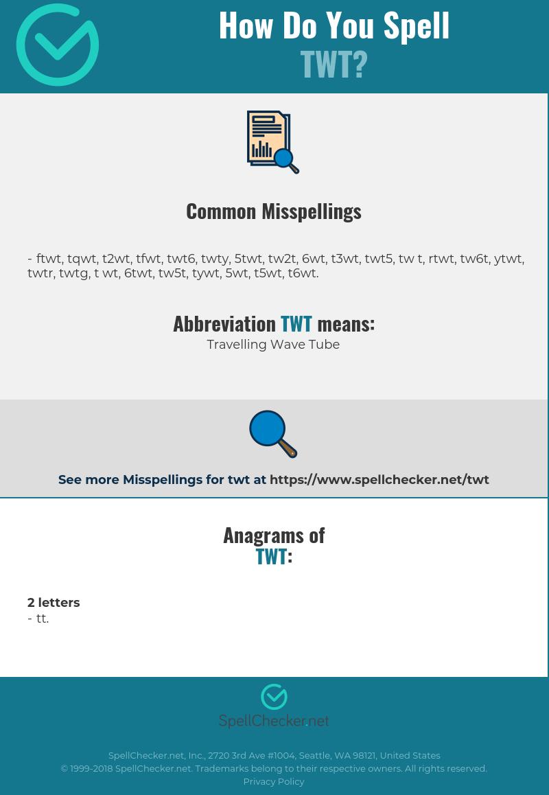 Correct Spelling For Twt Infographic Spellchecker Net