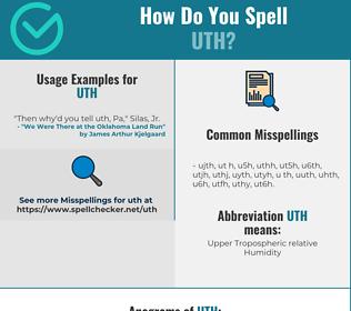 Correct spelling for UTH