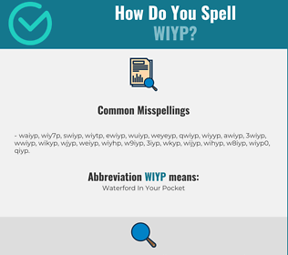 Correct spelling for WIYP