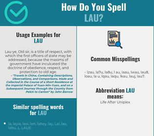 Correct spelling for LAU