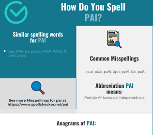 Correct spelling for PAI