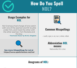 Correct spelling for NOL