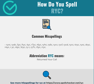 Correct spelling for RYC