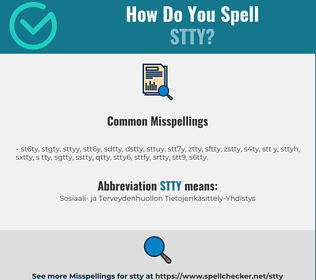 Correct spelling for stty