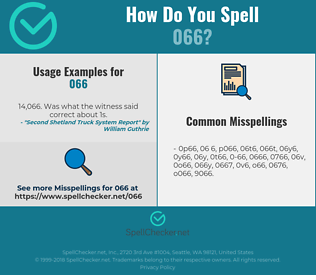 Correct spelling for 066