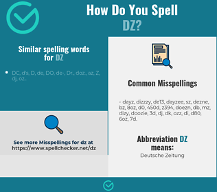 Correct spelling for DZ