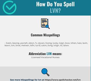Correct spelling for LVN
