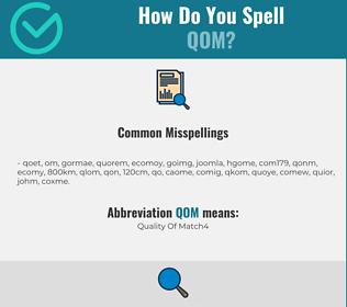 Correct spelling for QOM