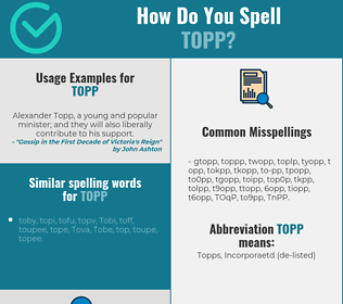 Correct spelling for TOPP