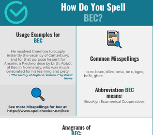 Correct spelling for BEC