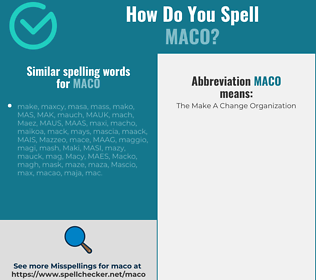 Correct spelling for MACO