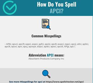 Correct spelling for APCI
