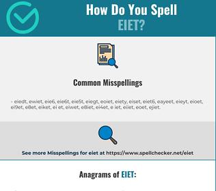 Correct spelling for EIET
