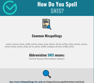 Correct spelling for SNIS