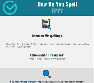 Correct spelling for TPY
