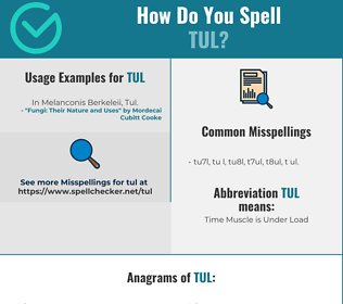 Correct spelling for TUL