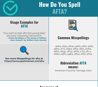 Correct spelling for AFTA