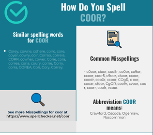 Correct spelling for COOR