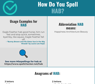 Correct spelling for HAB