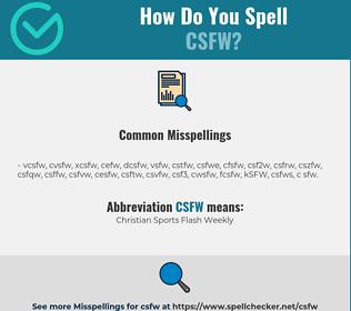 Correct spelling for CSFW