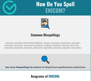 Correct spelling for ENICOM