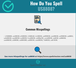 Correct spelling for US8808